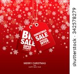 christmas sale. vector tags | Shutterstock .eps vector #342578279