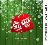 christmas sale. vector tags | Shutterstock .eps vector #342578285