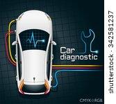 hardware diagnostics condition...   Shutterstock .eps vector #342581237