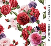 seamless floral pattern with... | Shutterstock . vector #342582191