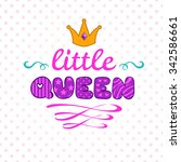 cute illustration for girls t... | Shutterstock . vector #342586661