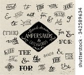 hand drawn ampersands and...   Shutterstock .eps vector #342589634