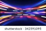 shining high tech abstract...   Shutterstock . vector #342591095