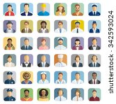 people icon set   different... | Shutterstock .eps vector #342593024