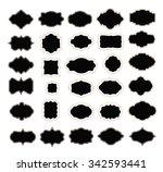 set of frames on white. vector | Shutterstock .eps vector #342593441
