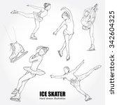 illustrations of figure skater. ...   Shutterstock .eps vector #342604325