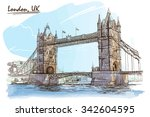 River Thames  Panorama With Th...