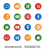 social media flat icons for... | Shutterstock .eps vector #342606731