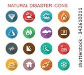 natural disaster long shadow... | Shutterstock .eps vector #342610211
