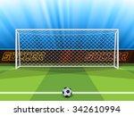 vector illustration of soccer... | Shutterstock .eps vector #342610994