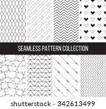 geometric black and white... | Shutterstock .eps vector #342613499