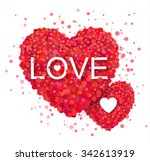 red heart with confetti design. ... | Shutterstock .eps vector #342613919