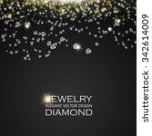falling gems abstract... | Shutterstock .eps vector #342614009