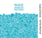 waves seamless border pattern.... | Shutterstock .eps vector #342622391