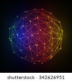 polygonal 3d vector globe with... | Shutterstock .eps vector #342626951
