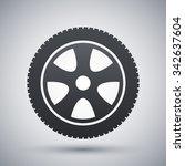 vector car wheel icon | Shutterstock .eps vector #342637604