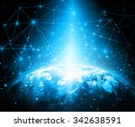 best internet concept of global ... | Shutterstock . vector #342638591