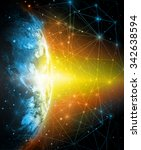 best internet concept of global ... | Shutterstock . vector #342638594