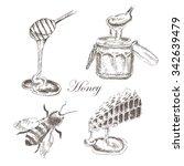 Vector Honey Pot  Honeycells ...