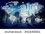 solution solve problem strategy ... | Shutterstock . vector #342640001