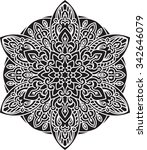 abstract vector round lace... | Shutterstock .eps vector #342646079