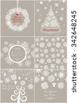 paper pastel design for winter... | Shutterstock .eps vector #342648245