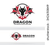 dragon and fire logo | Shutterstock .eps vector #342650849