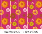 decorative textile print with... | Shutterstock . vector #342654005