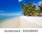 beautiful tropical beach with... | Shutterstock . vector #342658445