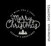 merry christmas lettering... | Shutterstock .eps vector #342659921
