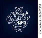 merry christmas lettering... | Shutterstock .eps vector #342659951