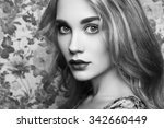 portrait of young beautiful... | Shutterstock . vector #342660449