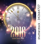 vector 2016 happy new year... | Shutterstock .eps vector #342664727