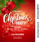 vector christmas party design... | Shutterstock .eps vector #342664895