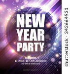 new year and christmas party... | Shutterstock .eps vector #342664931