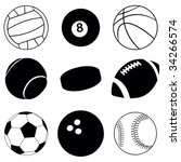 sport balls | Shutterstock .eps vector #34266574