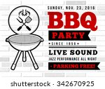 bbq party vector illustration | Shutterstock .eps vector #342670925