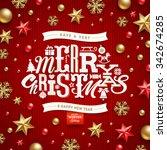 christmas vector illustration   ... | Shutterstock .eps vector #342674285