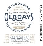 hand made font 'old days'.... | Shutterstock .eps vector #342674411