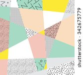 geometric background in retro... | Shutterstock .eps vector #342675779