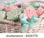 some rose and pastel soaps in a ... | Shutterstock . vector #3426776