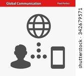 global communication icon.... | Shutterstock .eps vector #342679571