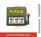 casino slot doodle   Shutterstock .eps vector #342680039