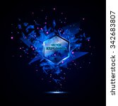 blue techno style vector... | Shutterstock .eps vector #342683807