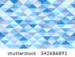blue mint marble triangle... | Shutterstock .eps vector #342686891