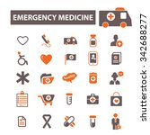 emergency medicine  icons ... | Shutterstock .eps vector #342688277