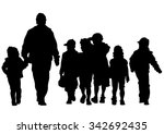families people with little... | Shutterstock . vector #342692435