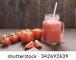 healthy vegetable. glass of red ... | Shutterstock . vector #342692639