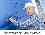 lorry driver | Shutterstock . vector #342693995