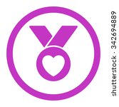 charity medal vector icon.... | Shutterstock .eps vector #342694889